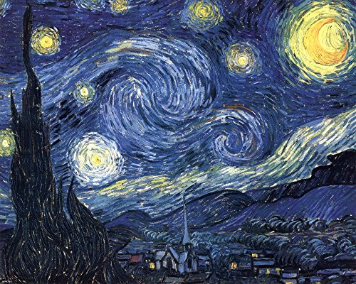 - The Starry Night, c.1889 by Vincent Van Gogh Art Print, 10 x 8 inches