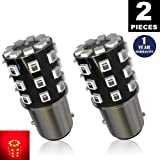 LUYED 2 x 800 Lumens Super Bright 1157 2835 33-EX Chipsets 1157 2057 2357 7528 LED Bulbs Used For Turn Signal Lights,Tail Lights,Red
