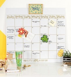 Happy Everything Dry Erase Calendar | Coton Colors