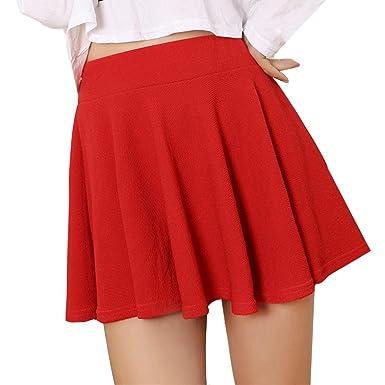 bf8cf8aaebff OHQ Mme Pure Anti-Amorphous A Jupe Courte Noir Rouge Blanc Femmes Lady  Taille Haute