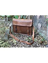 urbanlederco. Genuine Men's Auth Real Leather Messenger Laptop Briefcase Satchel Mens Bag