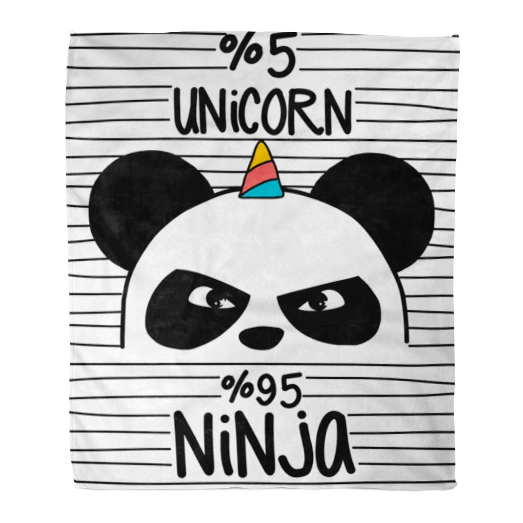 61d9ce4bd562 Amazon.com: Emvency Flannel Throw Blanket Pink Animal Cute Panda ...