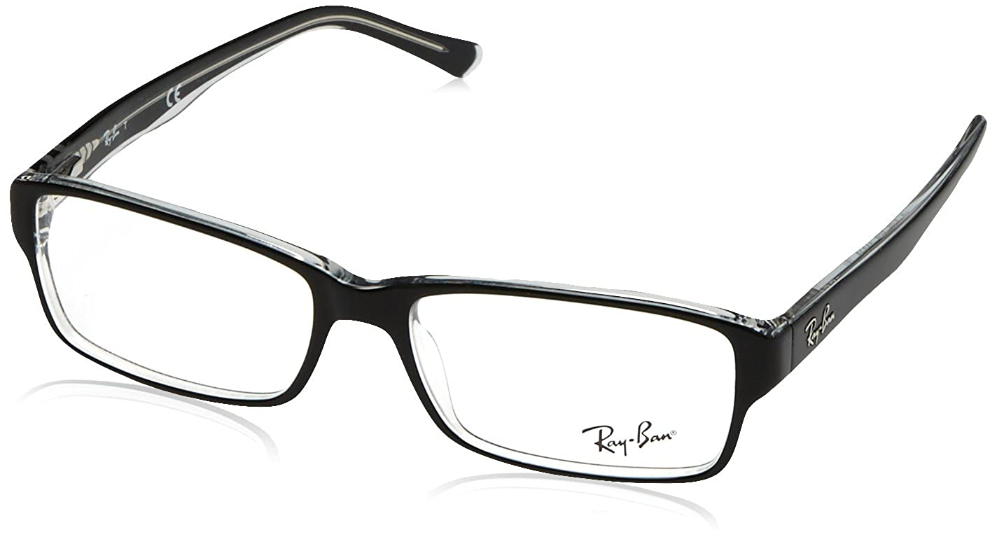 74290e57a0cca Ray-Ban RX5169 Glasses in Black on Transparent RX5169 2034 52  Ray Ban   Amazon.co.uk  Health   Personal Care