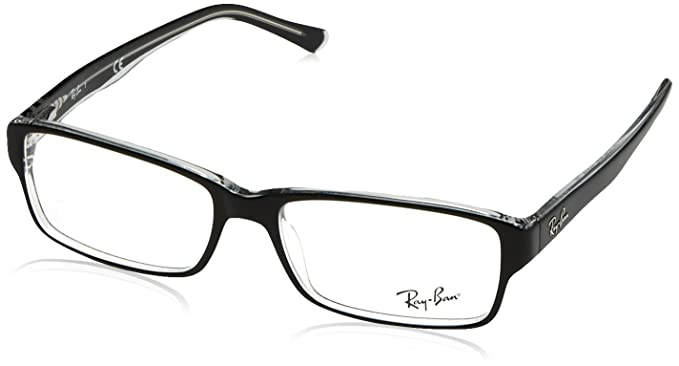 5e6a83082c2 Ray-Ban RX5169 Glasses in Black on Transparent RX5169 2034 52  Ray ...
