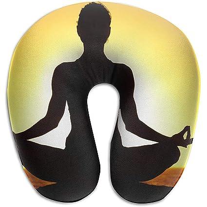 Almohada de Cuello en Forma de U Almohadas de Yoga Portátil ...