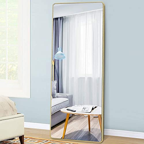 PexFix 65″x22″ Full Length Mirror Bedroom Floor Mirror Rectangular Wall Mounted Mirror Standing Hanging Leaning