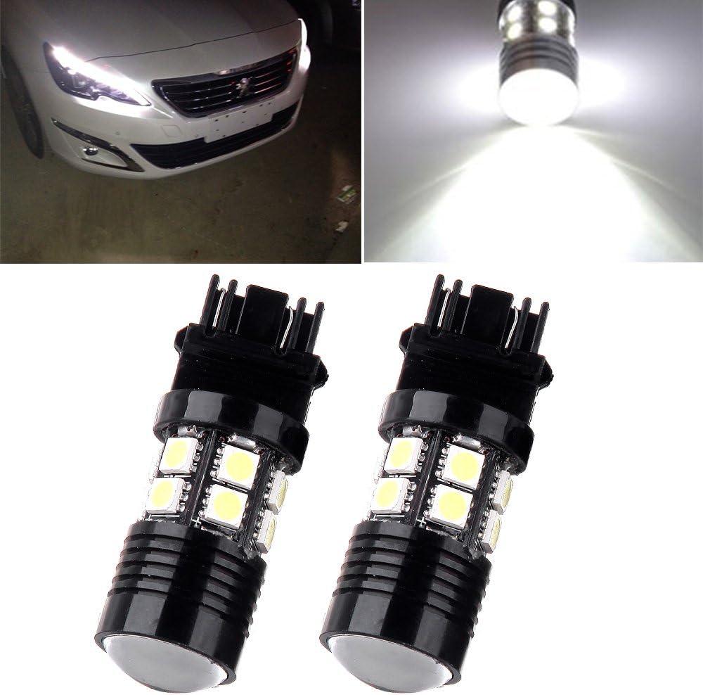 cciyu Car Marker Light 2Pack High Power White 5730 Epistar 9W LED for Eagle Eye Bumper DRL Fog Light Motorcycle Light Daytime Running DRL Tail Backup Light Car Motor