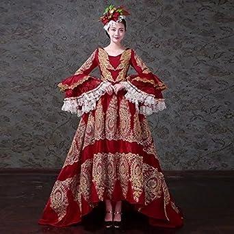 29a6465e583a3 Amazon.co.jp:  ノーブランド品 ワインレッドドレス オペラ声楽 中世 ...