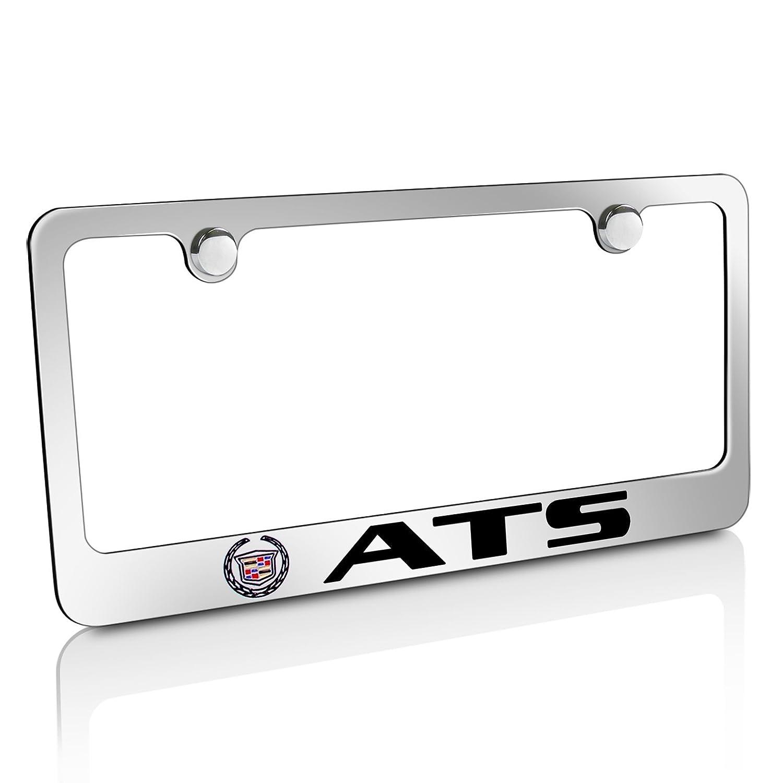 Cadillac Logo ATS Chrome Metal License Plate Frame