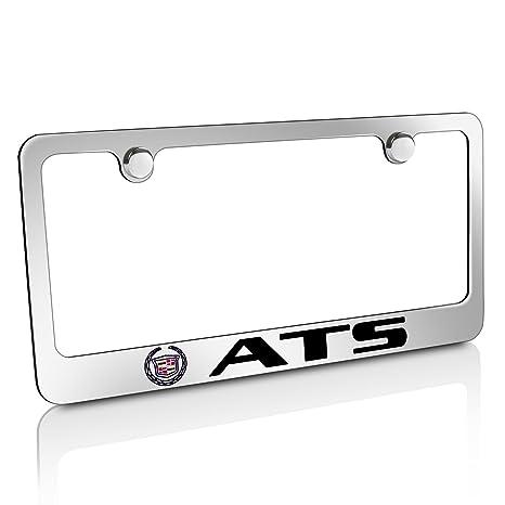 Amazon.com: Cadillac Logo ATS Chrome Metal License Plate Frame ...
