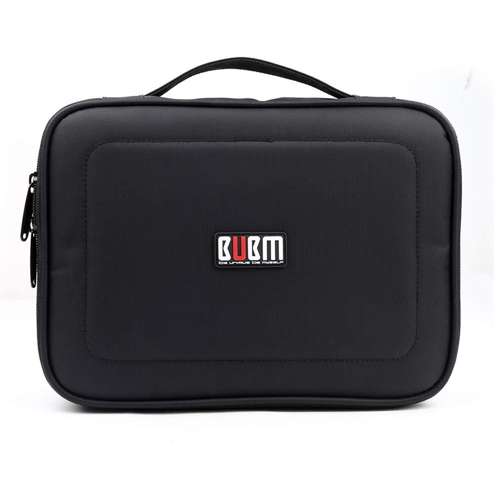 BUBM 4pcs/Set Travel Electronic Organizer Gadgets Electronics Accessories Storage Bag for Memory Card USB Battery Power Bank Flash Hard Drive Safe Space Cord Organizer(Black) by BUBM (Image #6)