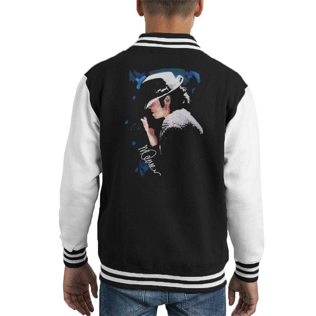 VINTRO Michael Jackson Gespitzte Hat Kinder Varsity Jacke Original-Portr/ät von Sidney Maurer