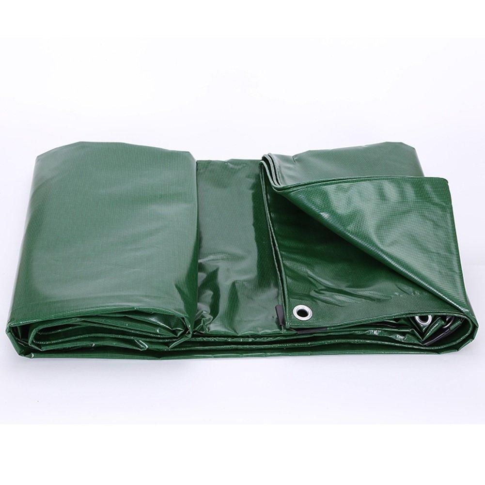 LIANGJUN オーニング 日よけ UVプロテクト ポリ塩化ビニル コーティング スーパー防水 増粘 タープ 屋外 耐霜性 耐食性 厚さ0.7mm、 600g/m² (色 : Green+blue, サイズ さいず : 4X4m) B07D2FZPVG 26553  Green+blue 4X4m