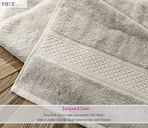 FBTS Prime Luxury Bath Towels Sets Large 6 Pack Hotel Cotton Towel Set Soft Thick for Bath and Spa Grey by FBTS Prime (Image #1)