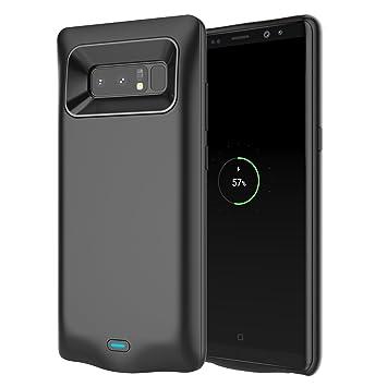 Samsung Galaxy Note 8 Batería Funda, 5500mAh Recargable Portátil Batería Backup Batería Cargador Paquete Externa Carcasa Power Bank Protectora Funda ...