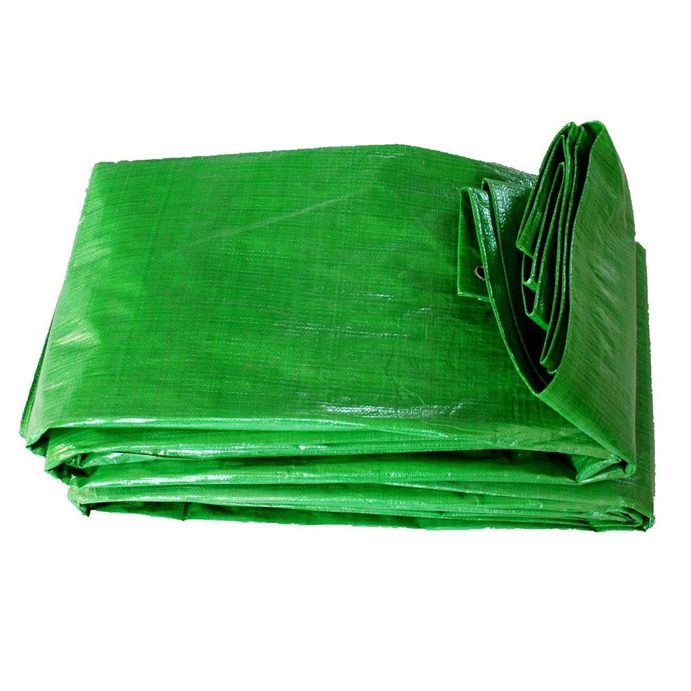 AJZGF Regenschutz Wasserdicht Planen Gartenarbeit Schutz Pflanze Sonnencreme Lieferungen LKW Schuppen Tuch Sonnenschutz Sonnencreme Falten Antioxidation, grün (Farbe   Grün, größe   6x8M)