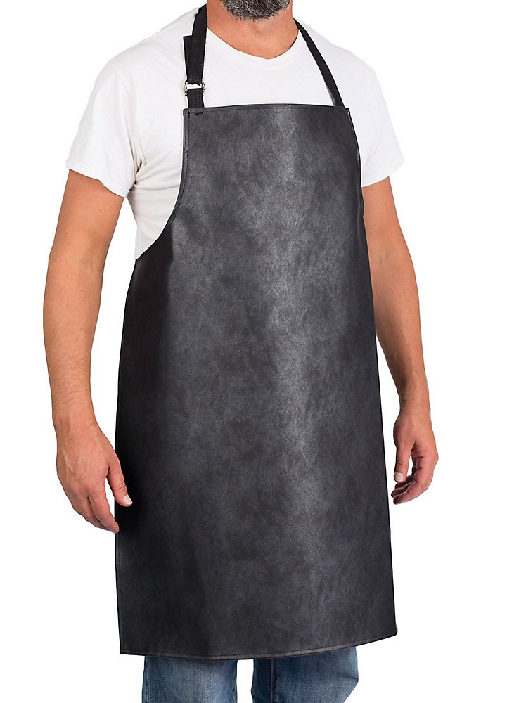 KNG Adjustable Vinyl Waterproof Apron, Charcoal by KNG