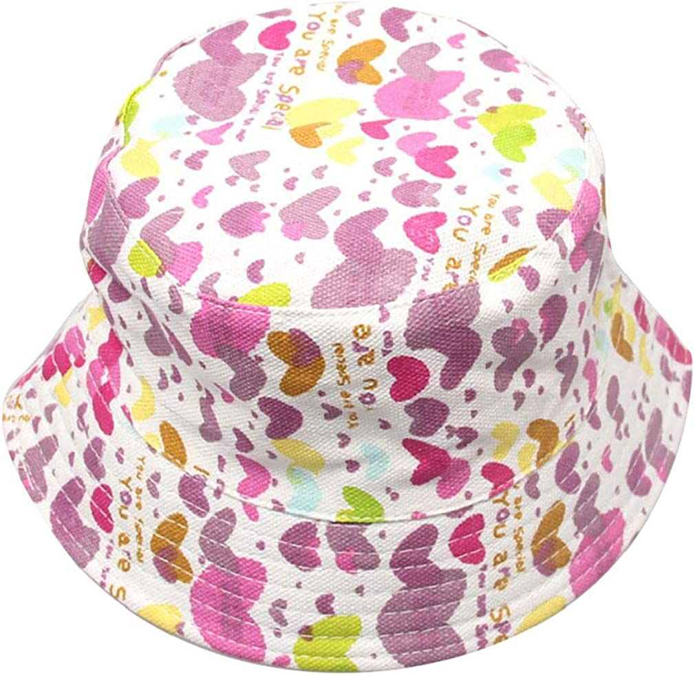 Junhouse Bucket Hat for Boys Girls Sun Protection Hat 2-6 Years Old Kids
