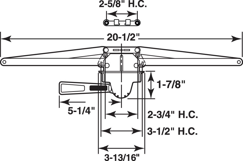 Bronze Prime-Line Products TH 23070 Single Pull Lever Operator