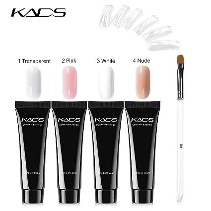 KADS Kit de extensión de uñas de gel para mejorar las uñas ...