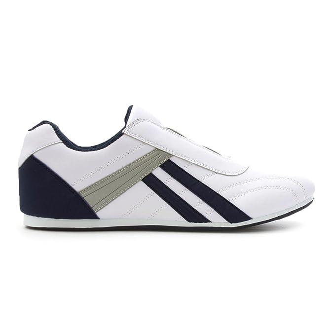 Tique Bouclé, Blanc Et Chaussures Bleu Marine, La Taille Des Hommes 6 Uk / Eu 39,5 - Blanc