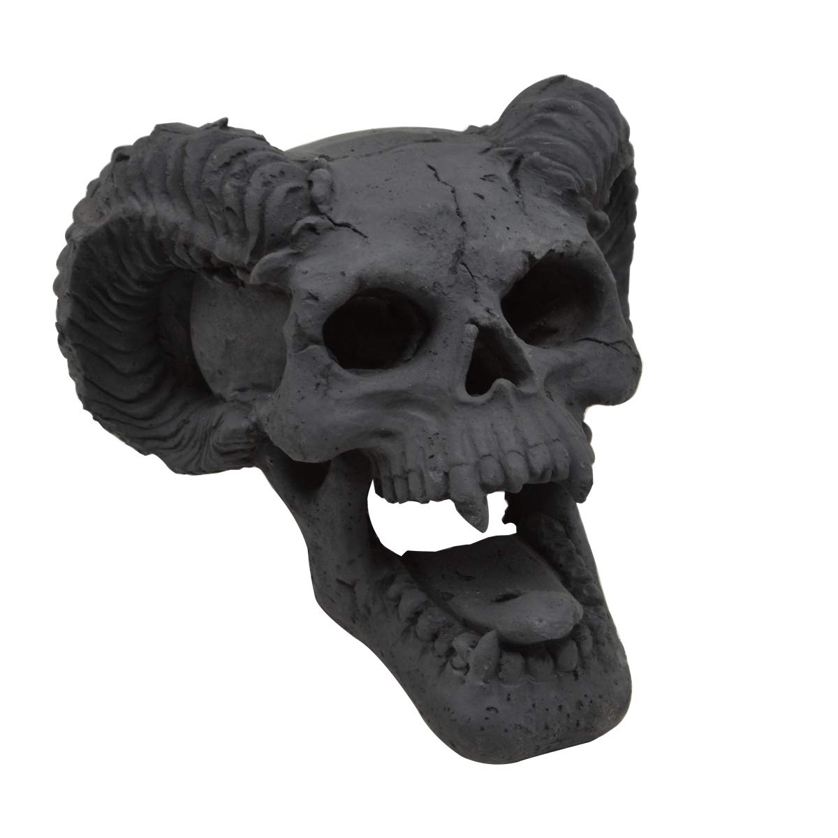 Stanbroil Demon Fireproof Fire Pit Fireplace Skull Gas Log for All Types of Gas Inserts, Ventless & Vent Free, Propane, Gel, Ethanol, Electric, Outdoor Fireplace and Fire Pit, Halloween Decor, Black by Stanbroil