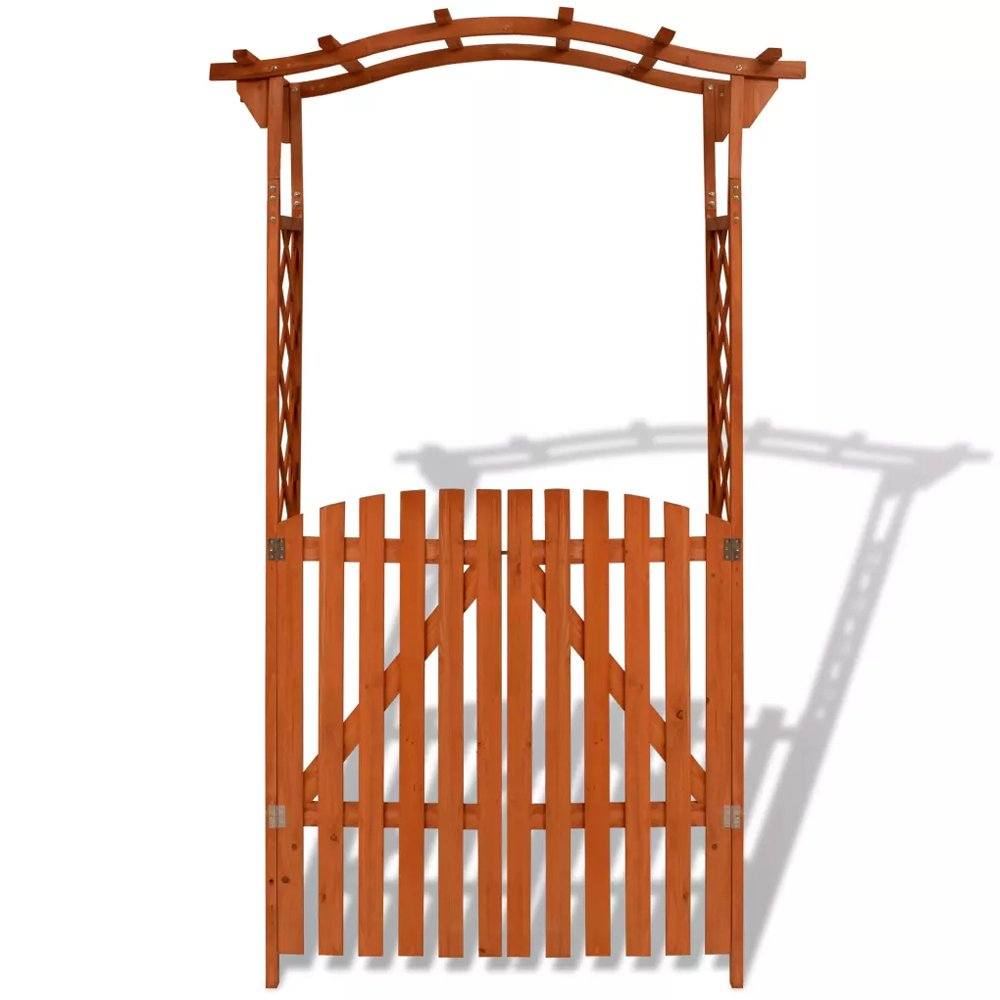 Garden Arch Gate Trellis Wood Pergola Entryway Patio Outdoor Arbor For Climbing Roses