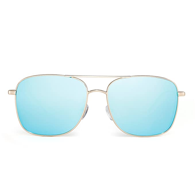fd31a4a47b JIM HALO Gafas de sol Aviador de Espejo Plano Cuadrado Conducir Steampunk  Anteojos Mujer Hombre(