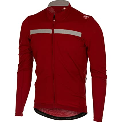 Amazon.com   Castelli Costante Jersey - Men s Ruby Red Luna Grey 2eac5fd58