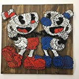 Cuphead and Mugman Gaming String Art