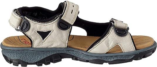 Rieker Damen Sandale Sandalette Sommerschuhe beige 68866 61