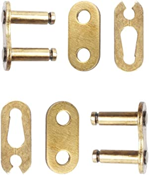 QAZAKY 5pc Gold 420 Drive Chain Repair Master Connector Split Link 50cc 70cc 90cc 110cc 125cc Pit Dirt Bike ATV Quad Scooter Motorcycle Go Kart