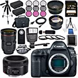 Canon EOS 5D Mark IV DSLR Camera (Body Only) 1483C002 + EF 24-70mm f/2.8L II USM Lens EF 50mm f/1.8 STM Lens 0570C002 + LPE-6 Lithium Ion Battery + Sony 128GB SDXC Card Bundle
