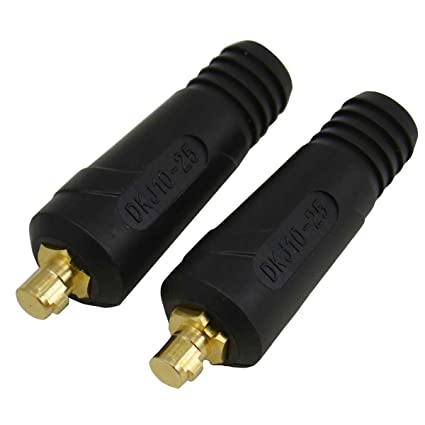 TIG Soldadura Cable Panel Conector macho DKJ10-25 200Amp Dinse Quick Fitting 2pk