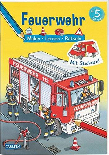 Feuerwehr Malen Lernen Rätseln Mit Stickern Amazon De Ilka