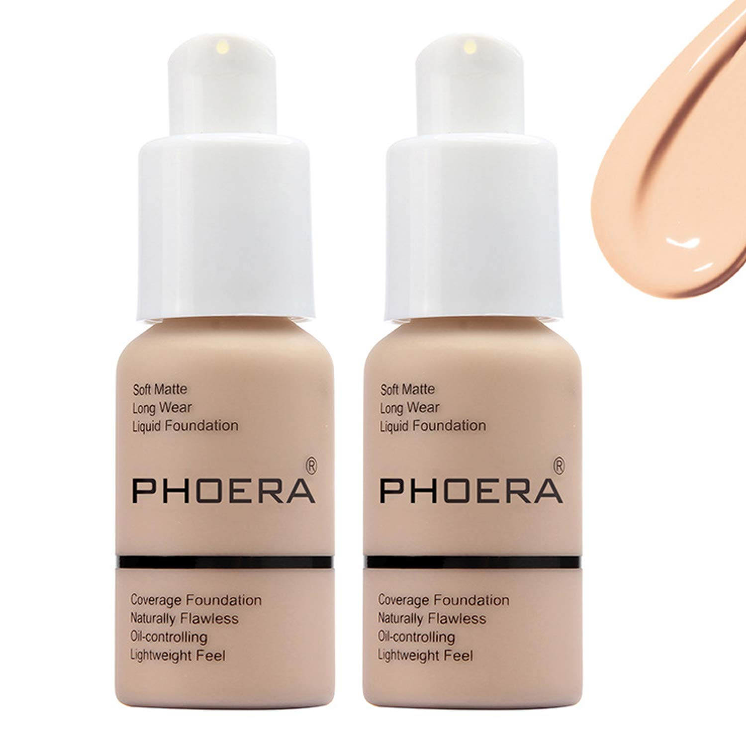 Matte Oil Control Concealer Foundation Cream,Long Lasting Waterproof Matte Liquid Phoera Foundation,102 Nude -30ml