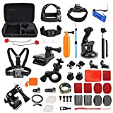 Toughsty Action Camera Accessory Outdoor Sports Essentials Kit for GoPro Hero 5 4 3 2 1 with Carrying Case