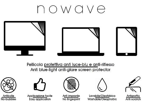 Nowave - Protector de pantalla para monitor PC/Laptop/Portátiles. Anti luz azul y anti reflejo. Novedad. Protector mate que evita deslumbramientos y ...