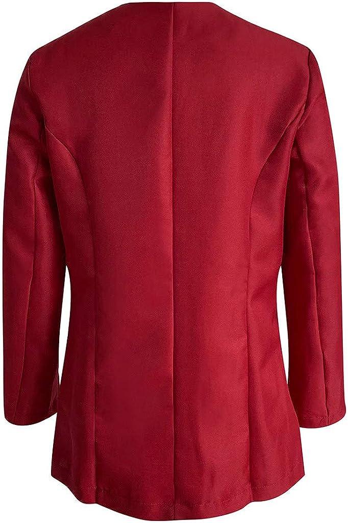 YESWOMAN Women Long Blazers Lapel Cape Cloak Ladies Casual Office Coat Suit Outwear Solid Office Outcoat