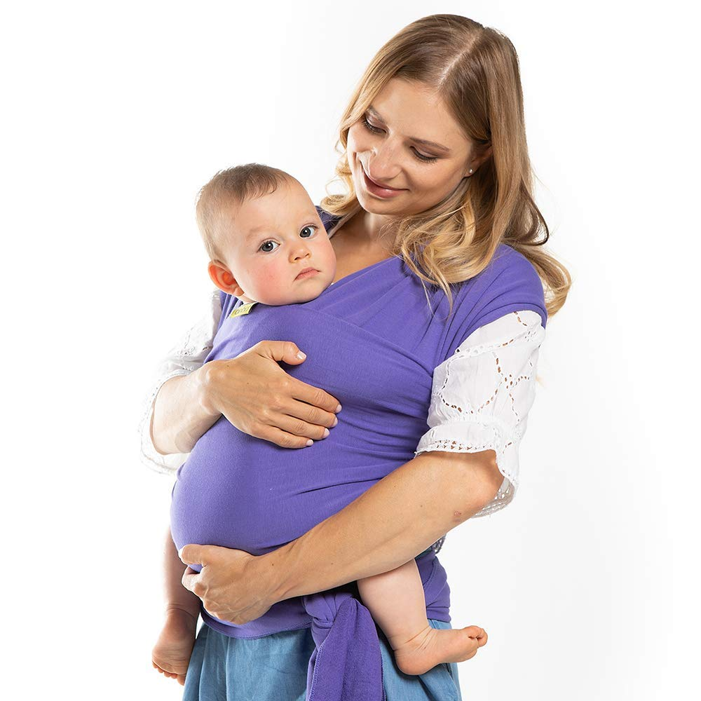 Boba Baby Wrap Purple – The Original Child and Newborn Wrap, Perfect for Infants and Babies Up to 35 lbs