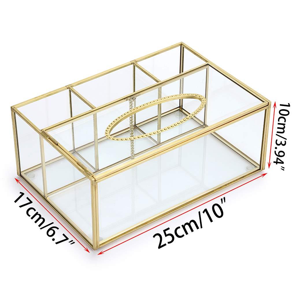 Caja de Control Remoto SUMNACON Caja de pa/ñuelos Rectangular de Cristal Transparente