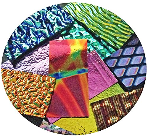 Assorted Dichroic on Black Glass Pieces - 90 COE, Made in America, 2 ()