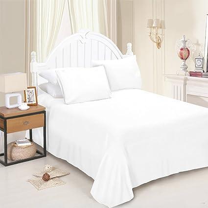 Size 180cm x 254cm Single Orange Maria Luxury Bedding /& Linen Single Orange Flat Sheets Plain Dyed Flat Sheet