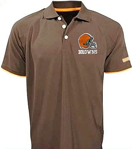 2a6d157bf Amazon.com   Cleveland Browns NFL Mens Team Apparel Cotton Polo Golf Shirt  Brown Size 5XT   Sports   Outdoors