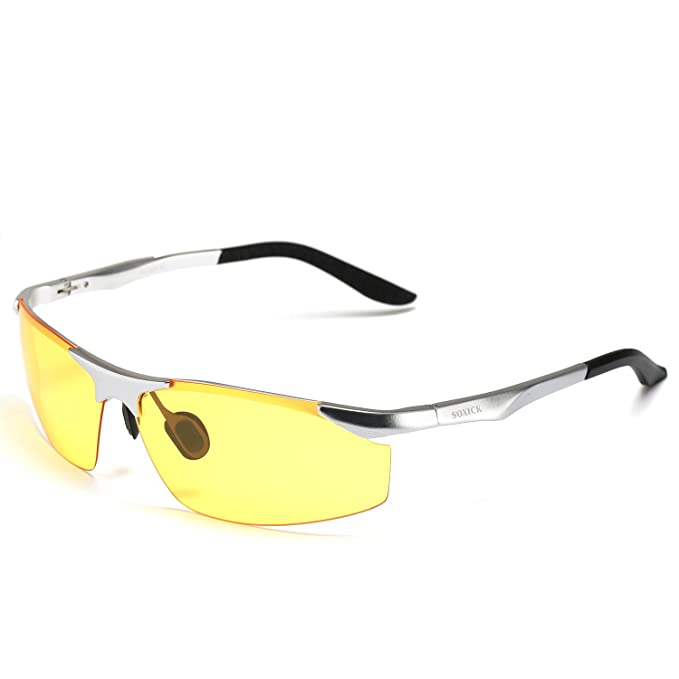 8a96c0624d4 Soxick® HD Night Driving Glasses Polarized Anti-Glare for Day Evening Car  Rides (
