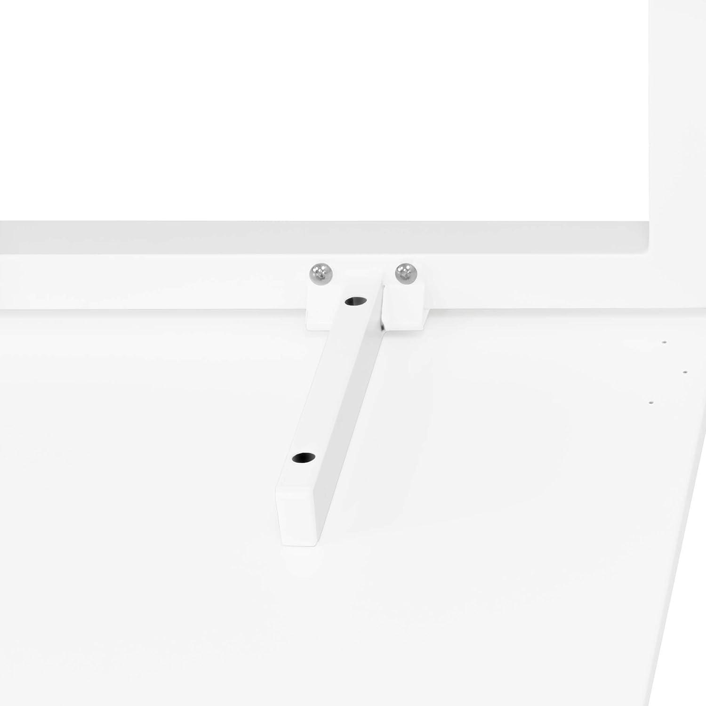 Winkelschreibtisch rechts Computertisch Eckschreibtisch 180 x 120 cm in Wei/ß NOVA Gestellfarbe:Anthrazit