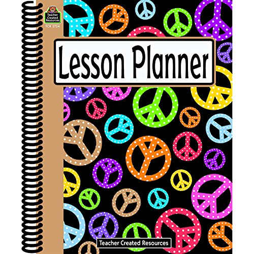 TEACHER CREATED RESOURCES PEACE SIGNS LESSON PLANNER (Set of 12)