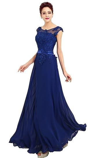 Emmarcon abito da cerimonia donna in chiffon damigella vestito lungo  elegante da festa party abbigliamento jpg daf85d8ecba