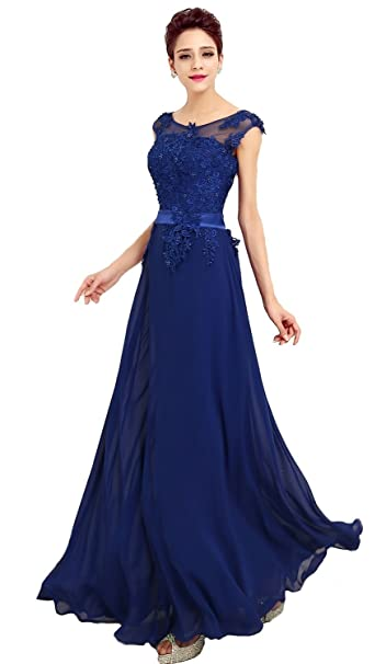 cheap for discount d5a64 4d0a3 emmarcon Abito da Cerimonia Donna in Chiffon Damigella Vestito Lungo  Elegante da Festa Party