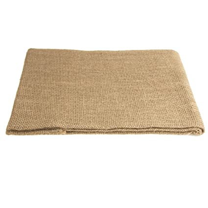 Firefly Natural Burlap Round Table Overlay, 48 Inch